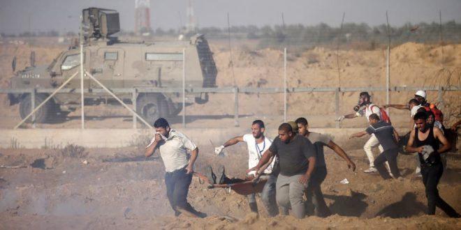 استشهاد أربعة فلسطينيين بنيران قوات الاحتلال الإسرائيلي بالقرب من السياج الحدودي لقطاع غزة